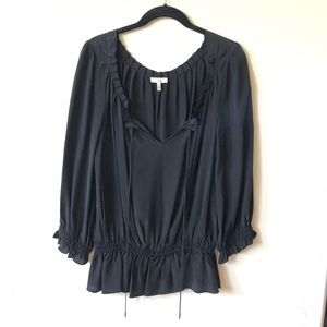 Joie • 100% Silk Smocked Peasant Top NWOT
